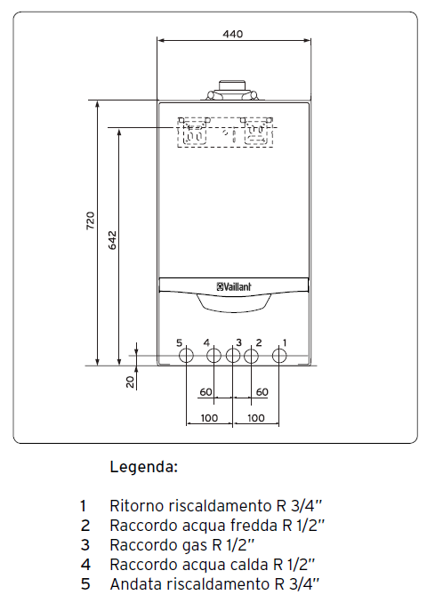 Caldaia Vaillant Ecotec Plus Vmw It 256 5 5 H 25kw 0010018691